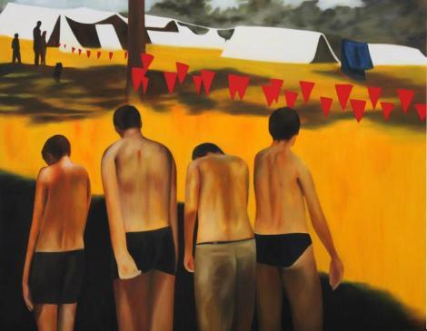 _물 없는 물놀이_, Oil on Canvas, 162.2 x 130.3, 2012